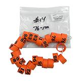 Poultry Numbered Leg Bands Orange Size 14 Numbered 76-100