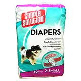 Diaper Garment Dog Diaper Disposable XS 12pack
