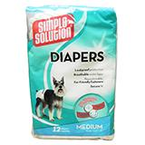 Diaper Garment Dog Diaper Disposable Medium 12pack