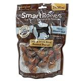 SmartBone Rawhide-Free Dog Treats Mini Bone 24 Pack