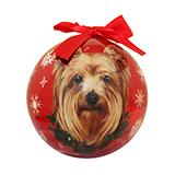 E&S Imports Shatterproof Animal Ornament Yorkie