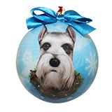 E&S Imports Shatterproof Animal Ornament Schnauzer Cropped
