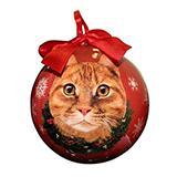E&S Imports Shatterproof Animal Ornament Orange Cat
