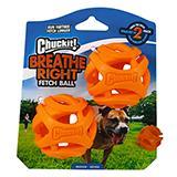 Chuckit Medium Breathe Right Dog Fetch Ball 2pk