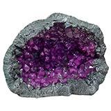 Exotic Environments Geode Stone Purple Aquarium Ornament