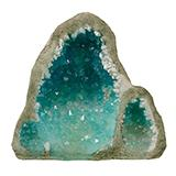 Exotic Environments Glow Geode Tall Blue Aquarium Ornament