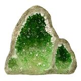 Exotic Environments Glow Geode Tall Green Aquarium Ornament