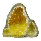 Exotic Environments Glow Geode Tall Yellow Aquarium Ornament