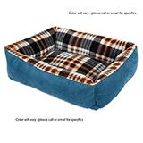 Small Plaid Pattern Pet Bed 20x16-in Color Will Vary