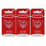 Dog Tag Silencer Heart Sm 3 Pack