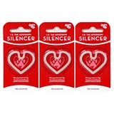 Heart ID Tag Silencer Large 3 Pack