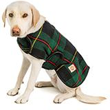 Handmade Dog Blanket Dog Coat Navy Tartan Med