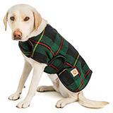 Handmade Dog Blanket Dog Coat Navy Tartan Large