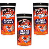 Omega One Freeze-Dried Bloodworms Fish Food .96 ounce 3 Pack