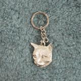 Pewter Key Chain I Love Cats