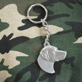 Pewter Key Chain I Love My Labrador