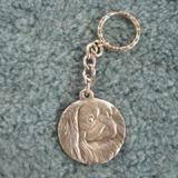 Pewter Key Chain I Love My Pekingese