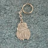 Pewter Key Chain I Love My Shih Tzu