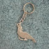 Pewter Key Chain I Love Cockatoos