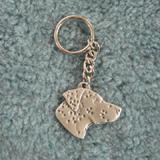 Pewter Key Chain I Love My Dalmatian