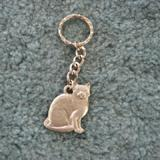 Pewter Key Chain I Love My Tabby