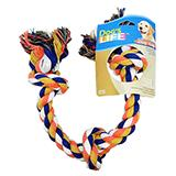 Rope Tug 3-Knot Color Large Dog Toy