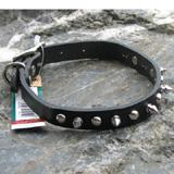 Spiked Dog Collar Black 14 x 5/8 inch