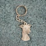 Pewter Key Chain I Love My Italian Greyhound