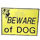 Beware of Dog Sign Large Plastic