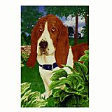 GR8 Dogs Basset Hound House Flag