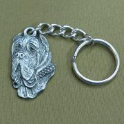 Pewter Key Chain I Love My Mastino Napoletano