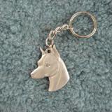 Pewter Key Chain I Love My Miniature Pinscher