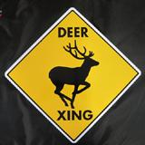 Sign Deer Xing 12 x 12 inch Aluminum