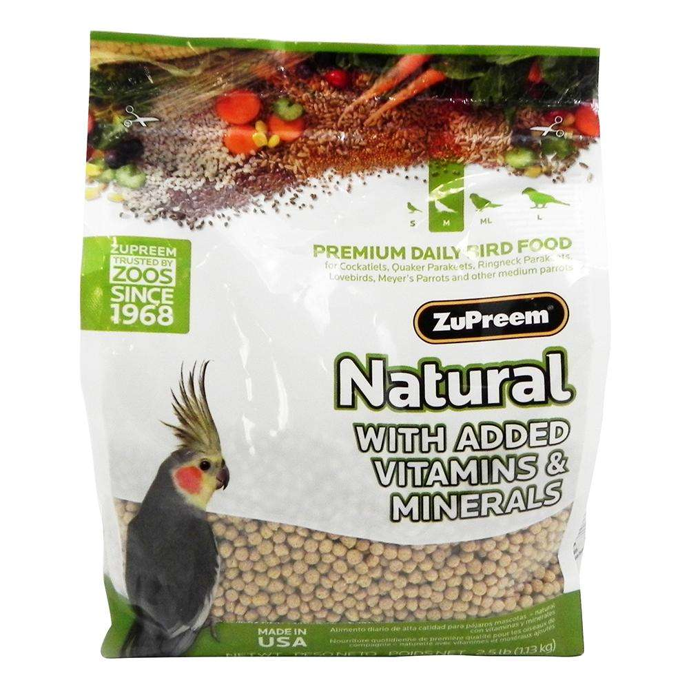 Zupreem Natural Blend Cockatiel Food 2.5 pound