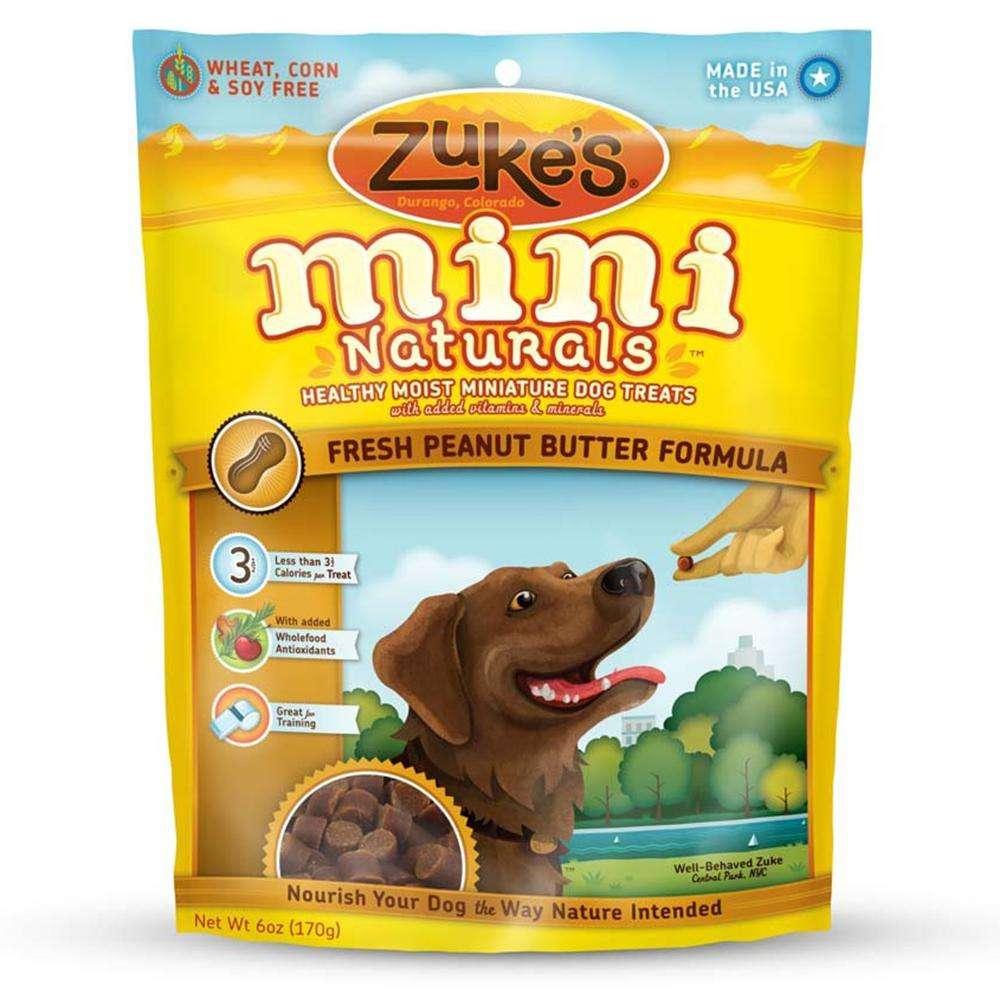 Zuke's Mini-Naturals Peanut Butter 6 ounce Dog Treat