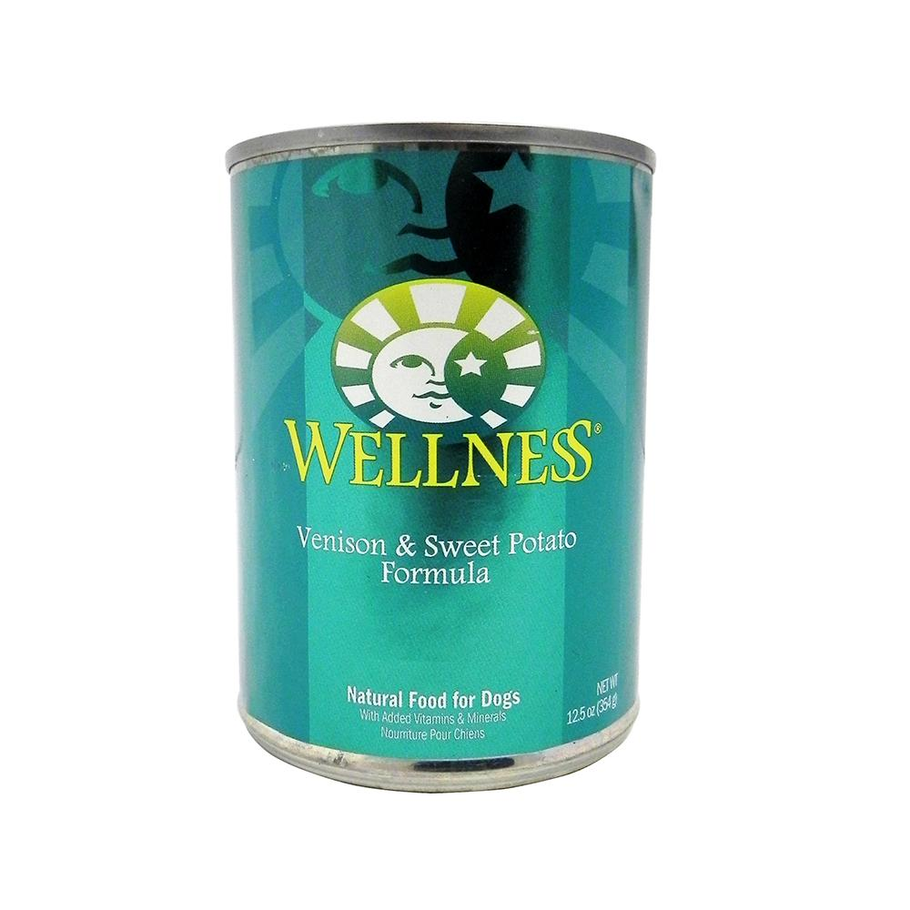 Wellness Venison and Sweet Potato Canned Dog Food Case