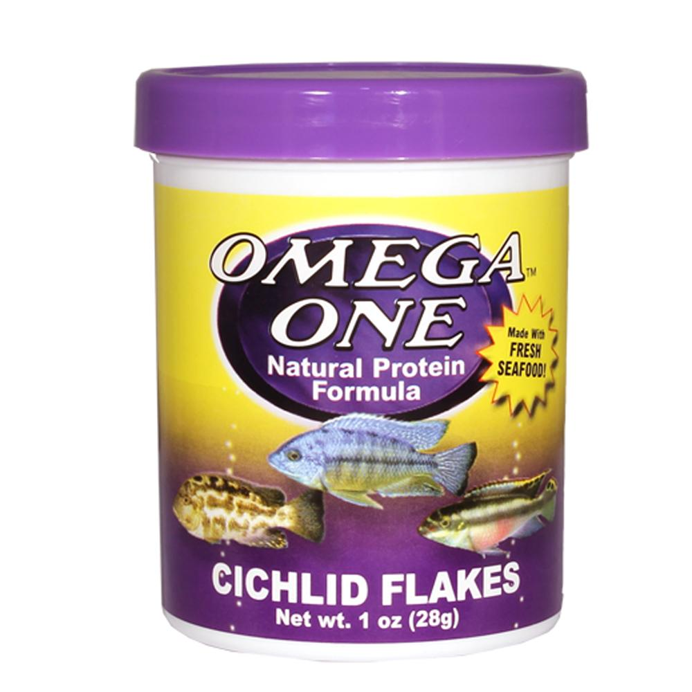 Omega One Cichlid Flakes Fish Food 1 ounce