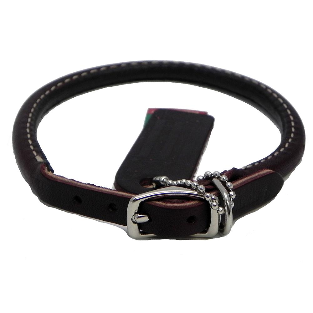 Circle T Leather Dog Collar Rolled Latigo 10 inch