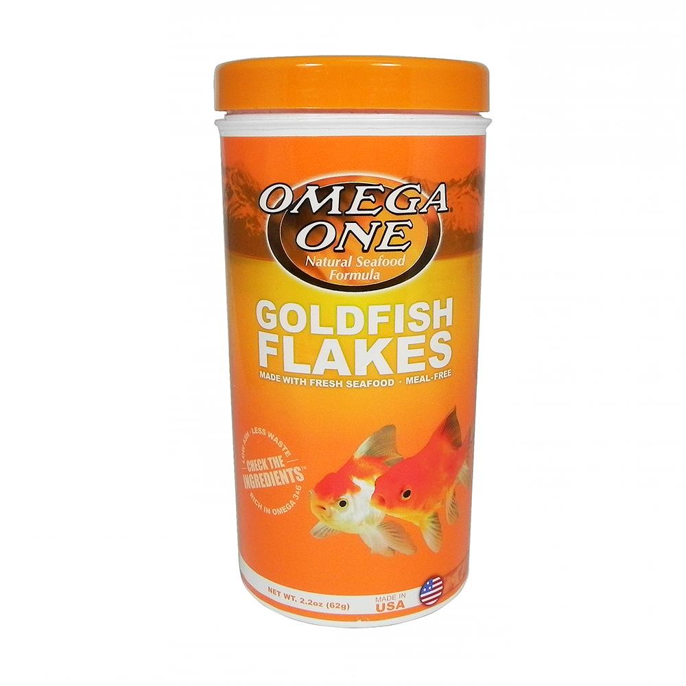 Omega One Goldfish Flakes Fish Food 2.2 ounce