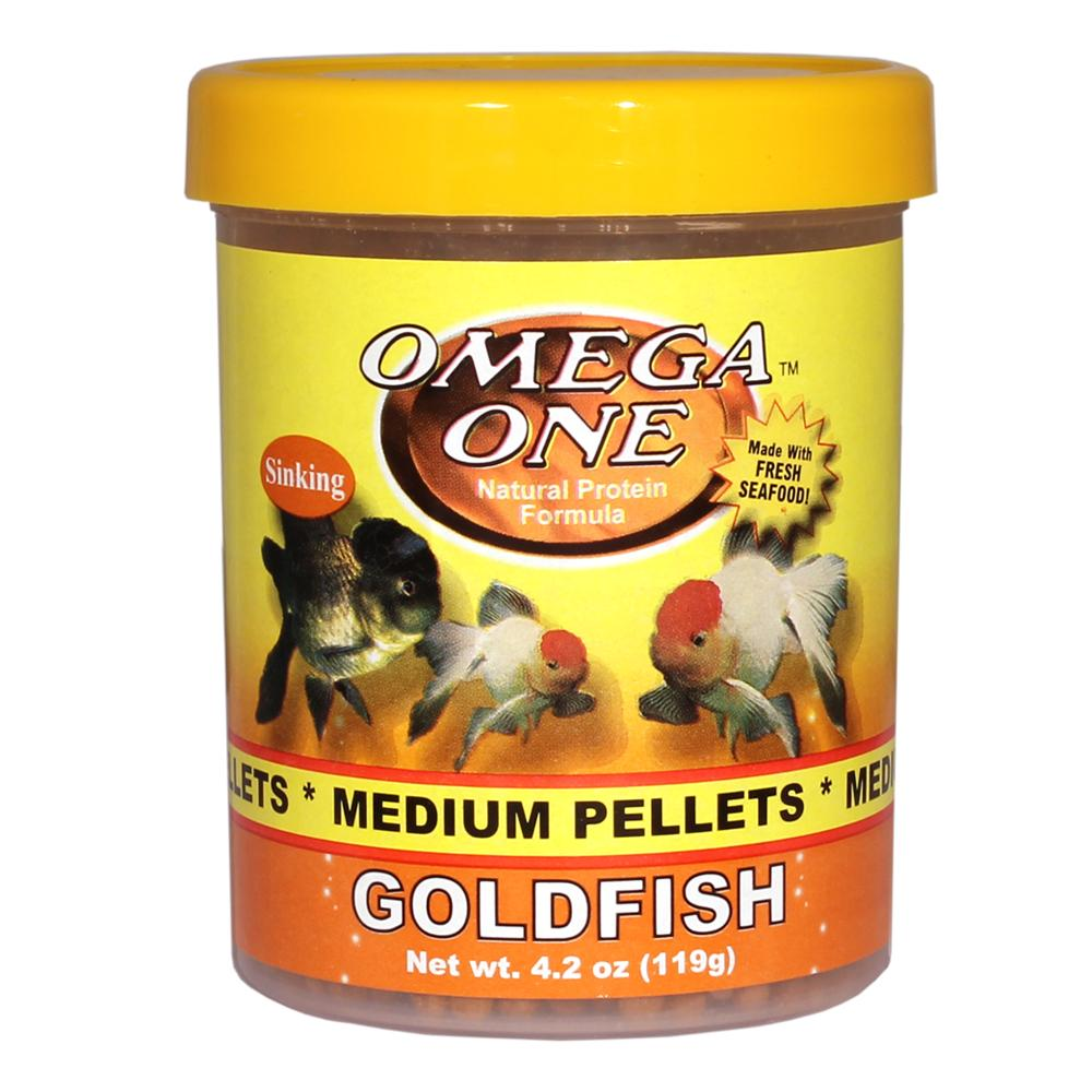 Omega One Medium Sinking Goldfish Pellets Fish Food 4.2-oz