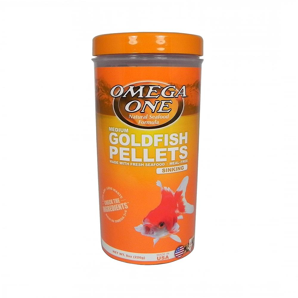 Omega One Medium Sinking Goldfish Pellets Fish Food 8-oz