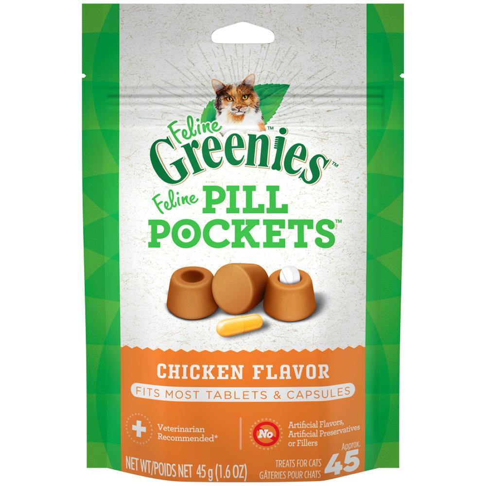 Pill Pockets Cat Chicken 45 Count