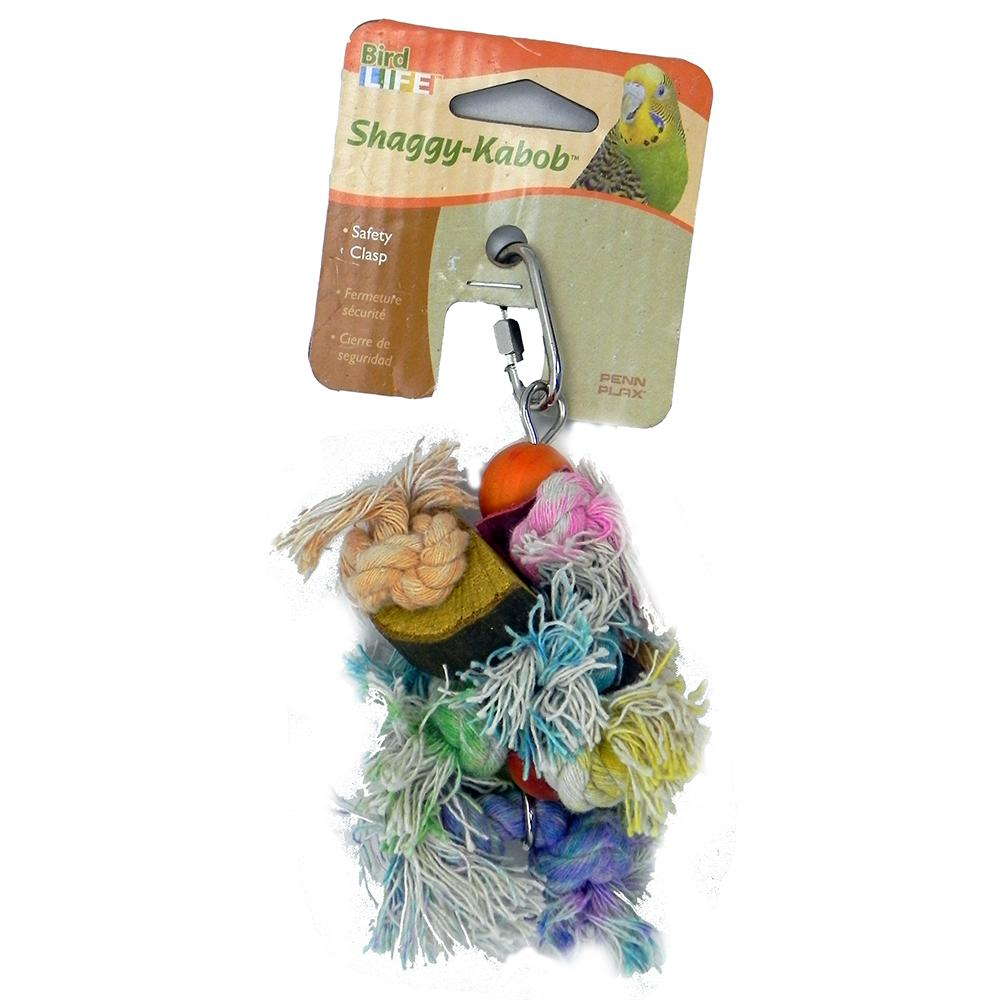 Penn Plax Shaggy Kabob Small Bird Toy