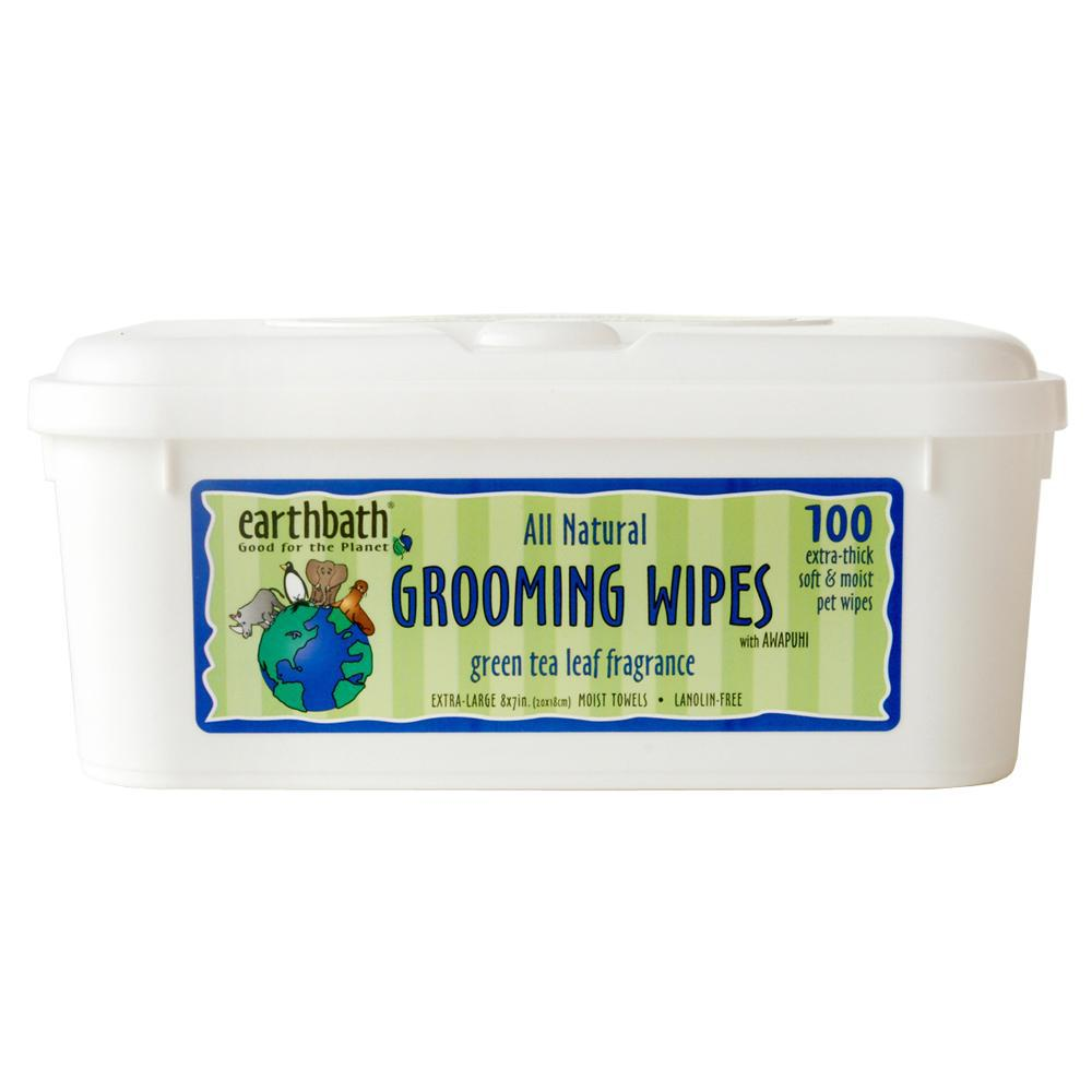 Earthbath Pet Grooming Wipes Green Tea Leaf Fragrance