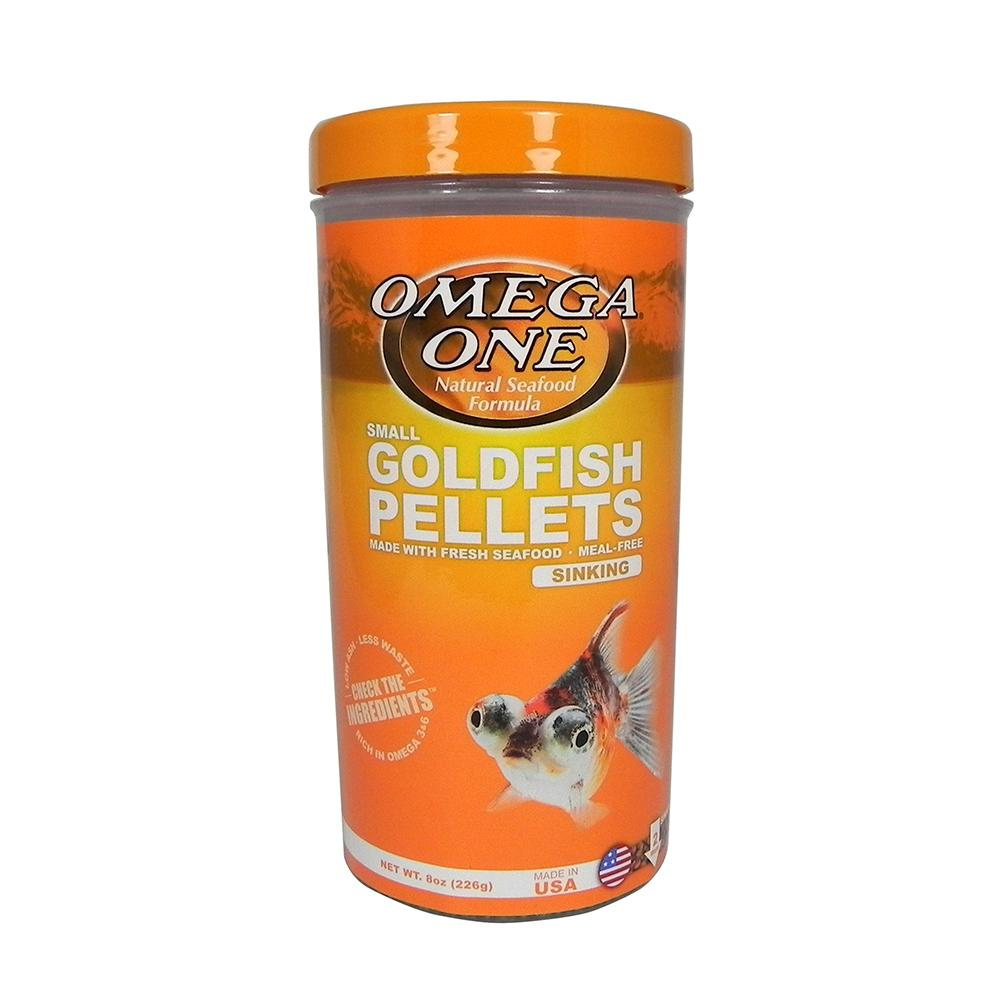 Omega One Small Sinking Goldfish Pellet Fish Food 8-oz
