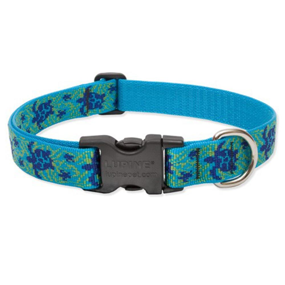 Lupine Nylon Dog Collar Adjustable Turtle Reef 25-31 inch