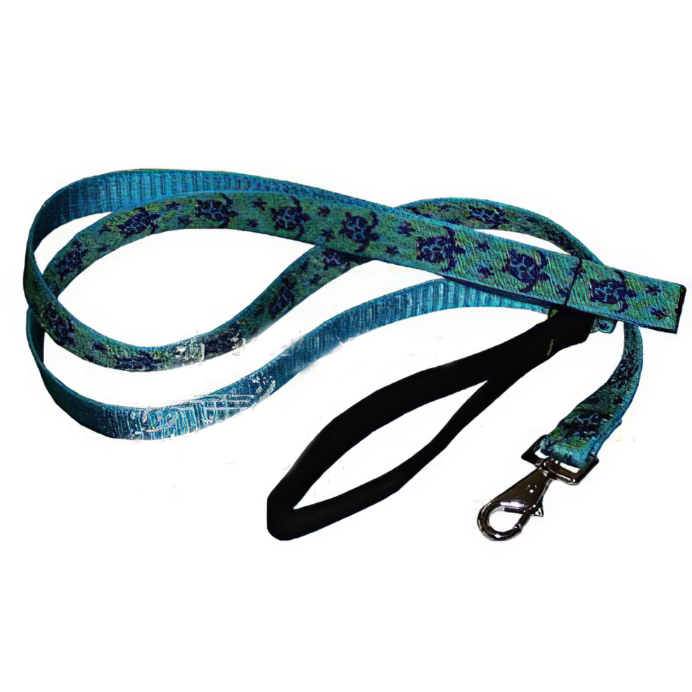 Lupine Nylon Dog Leash 6-foot x 1-inch Turtle Reef