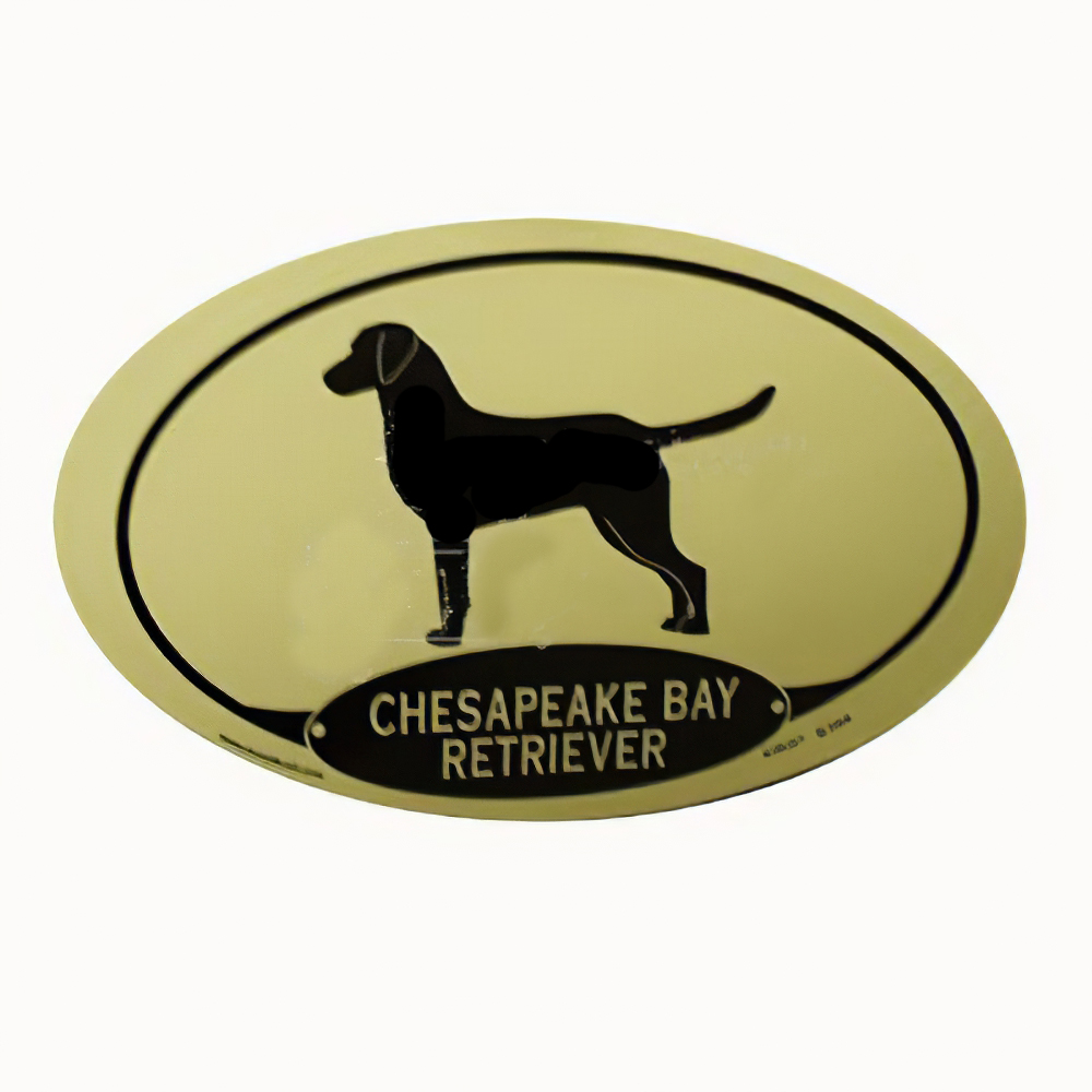 Euro Style Oval Dog Decal Chesapeake Bay Retriever