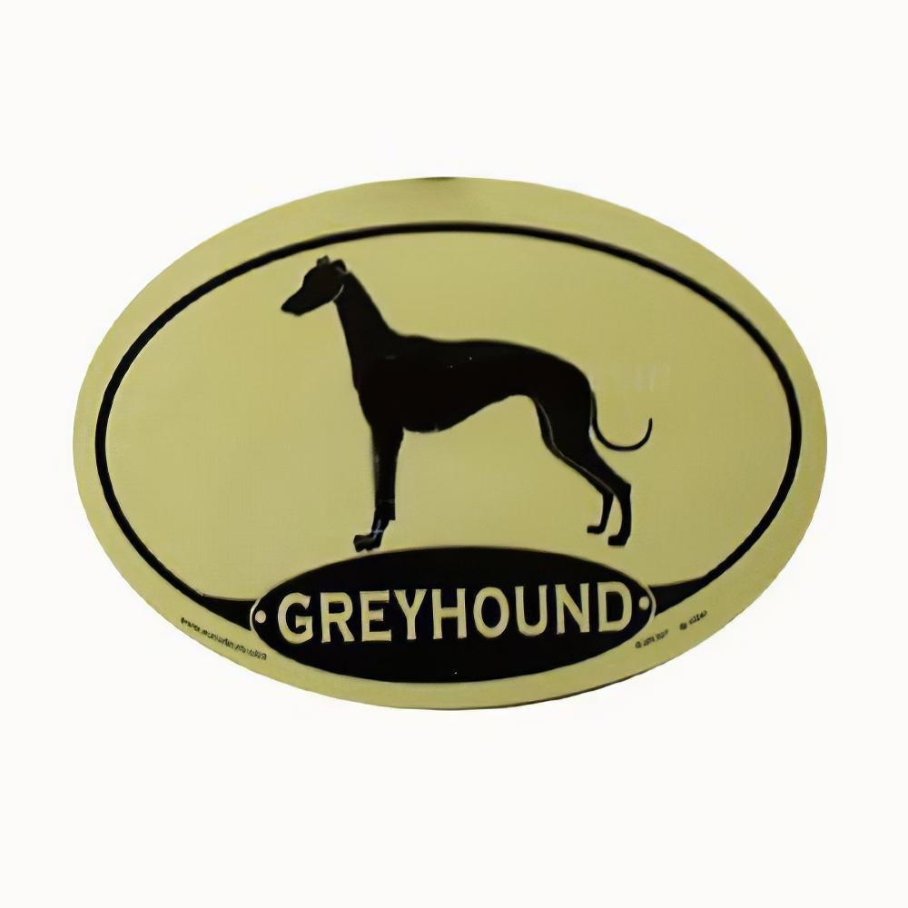Euro Style Oval Dog Decal Greyhound