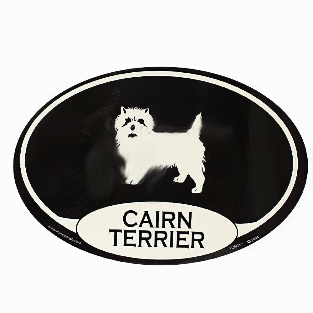 Euro Style Oval Dog Decal Cairn Terrier